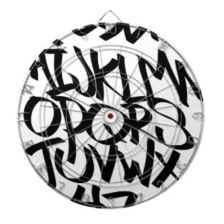 alphabet graffiti dartboards