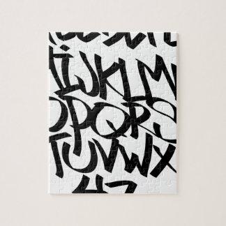alphabet graffiti jigsaw puzzle