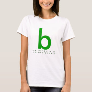 Alphabet Green b T-Shirt