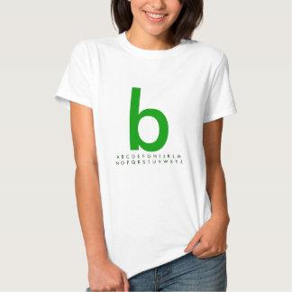 Alphabet Green b Tshirt
