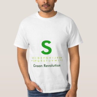 Alphabet Green S T-Shirt