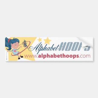 Alphabet Hoops: Bumper sticker