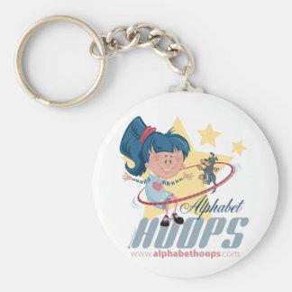 Alphabet Hoops key chains