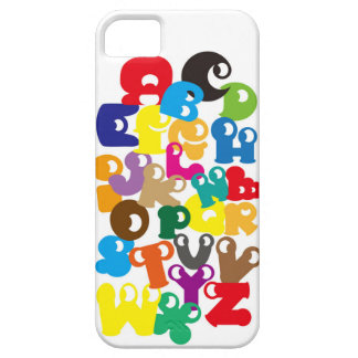 alphabet     initial English colorful Colorfu Init iPhone 5 Case