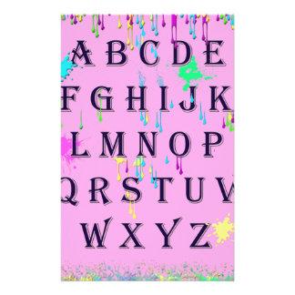 alphabet.jpg custom stationery