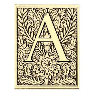 Alphabet Letter A Postcard
