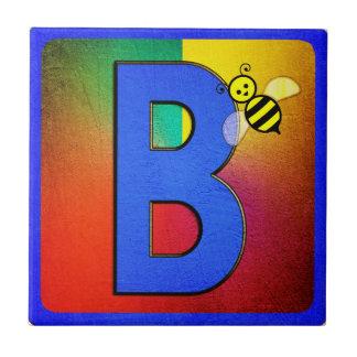 Alphabet Letter B Small Square Tile