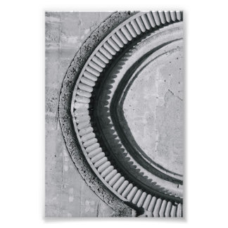 Alphabet Letter Photography C4 Black and White 4x6 Photo