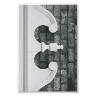 Alphabet Letter Photography E6 Black and White 4x6 Photograph