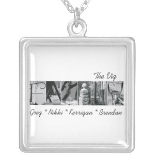 Alphabet Letter Photography Necklace Family