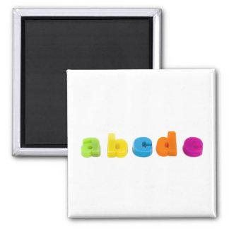 alphabet letters fridge magnet