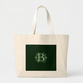 Alphabet letters - letter B - green Large Tote Bag