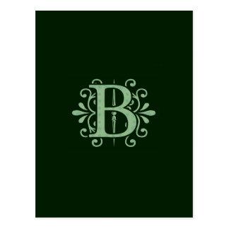 Alphabet letters - letter B - green Postcard