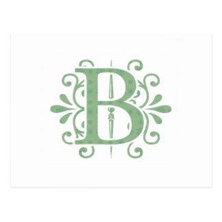 Alphabet letters - letter B - white Postcard
