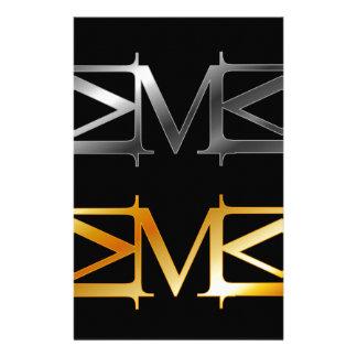 Alphabet M Customized Stationery