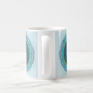 Alphabet mandala coffee mug