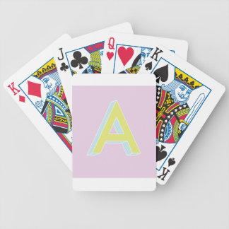Alphabet Mauve A Bicycle Playing Cards