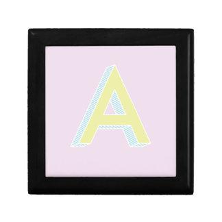 Alphabet Mauve A Gift Box