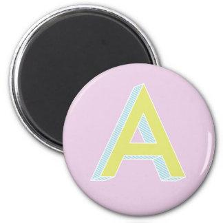 Alphabet Mauve A Magnet