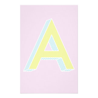 Alphabet Mauve A Personalised Stationery