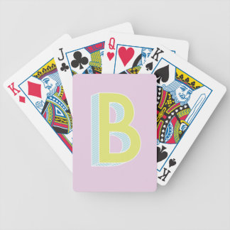 Alphabet Mauve B Bicycle Playing Cards