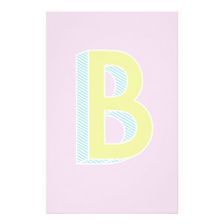 Alphabet Mauve B Customized Stationery