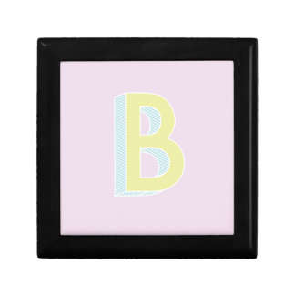 Alphabet Mauve B Gift Box