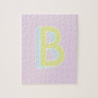 Alphabet Mauve B Jigsaw Puzzle