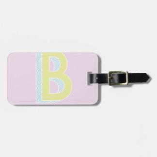 Alphabet Mauve B Luggage Tag