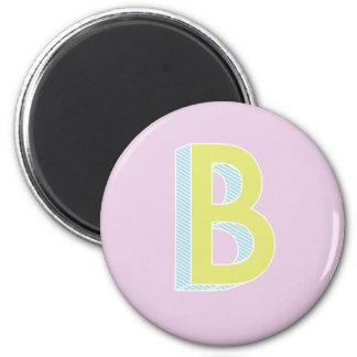 Alphabet Mauve B Magnet