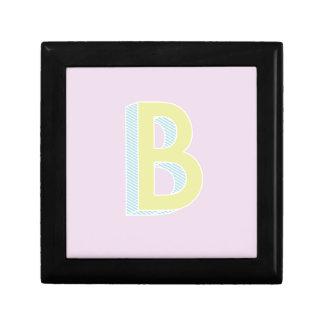 Alphabet Mauve B Small Square Gift Box