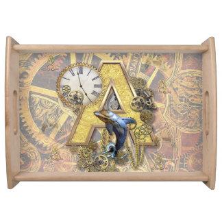 Alphabet, Monogram A Serving Tray