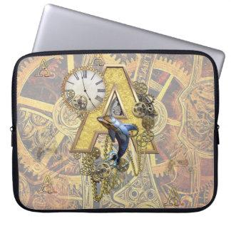 Alphabet-monogram capital-letter A Laptop Sleeve