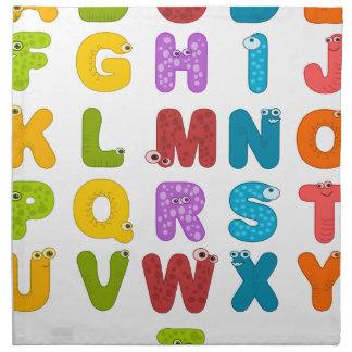 alphabet napkin