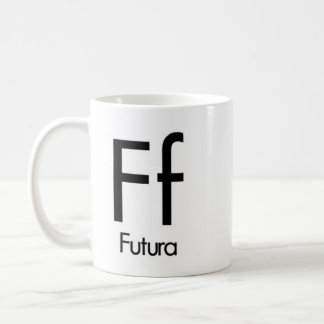 Alphabet Of Typography Mug - Futura