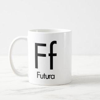 Alphabet Of Typography Mug - Futura