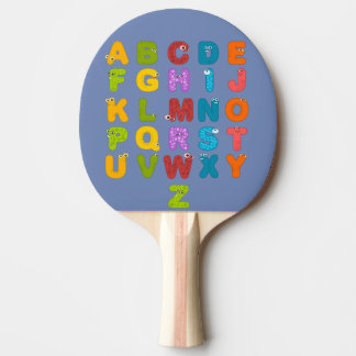 alphabet ping pong paddle