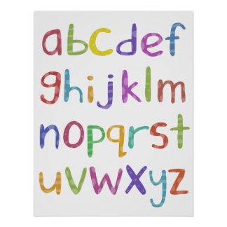 Alphabet - poster