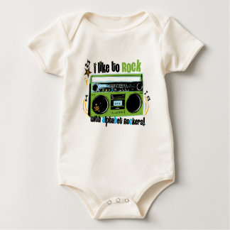 "Alphabet Rockers ""I Like To Rock Baby Bodysuit"