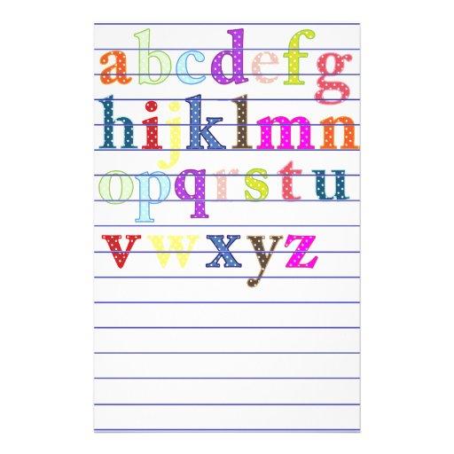 Alphabet Stationery Stationery Design