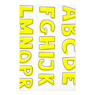 Alphabet Custom Stationery
