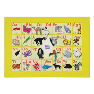 Alphabets: My ABC with 26 animals Poster