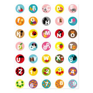 alphabetS Postcard