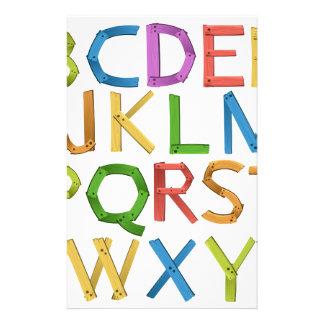 Alphabets Stationery Design