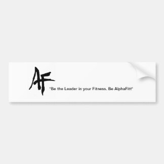 AlphaFitt Plain Logo Bumper Sticker