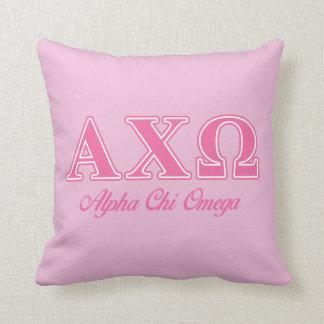 Alphi Chi Omega Pink Letters Cushion