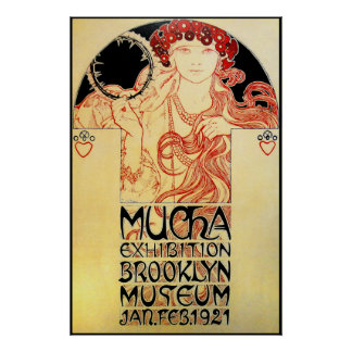 Alphones ( Alfons ) Mucha  1921 Exhibit Poster