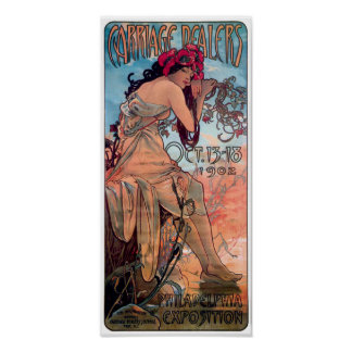 Alphones Mucha 1902 Carriage Dealers Expo Poster