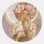Alphones Mucha ~ The Moon 1902 Stickers