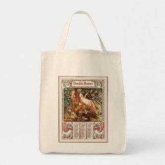 "Alphonse (Alfons) Mucha Canvas Bag - ""Manhood"""